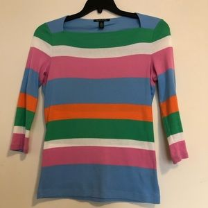 Lauren by Ralph Lauren Striped Pullover Size S